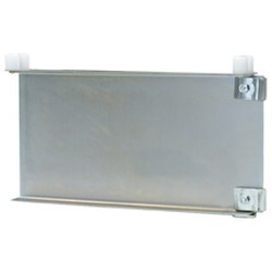 "24"" Regular Grey Epoxy Double Foot Bracket with Knobs - for Cantilevered Shelving System, #SMS-69-MMDFB-K-24"