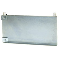 "14"" Regular Grey Epoxy Single Foot Bracket with Knob, Left - for Cantilevered Shelving System, #SMS-69-MMFB-K-14-L"