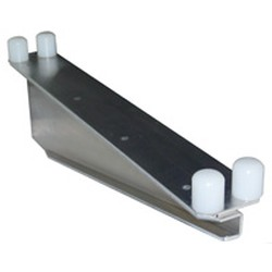 "24"" Nsf-Approved Grey Epoxy Heavy Duty Double Knob ""C"" Brackets - for Cantilevered Shelving System, #SMS-69-MMNSDBC-K-24"