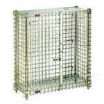 "26"" x 50"" x 40"" Chrome-Plated Stationary Mini Security Unit, #SMS-69-MSC2448"