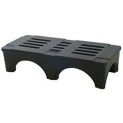 "22"" x 36"" x 12"" Black Polymer Dunnage Rack. 2000 Lb. Capacity, #SMS-69-PD3622"