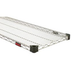 "14"" x 48"" Valu-Master Gray Epoxy, Quad-Adjust Reverse Mat Shelf, #SMS-69-QAR1448V"
