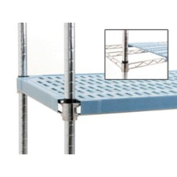 "18"" x 48"" Blue - Louvered Quadplus Mat with Chrome Finish Wire Truss Frame, #SMS-69-QPF-1848C-BL"