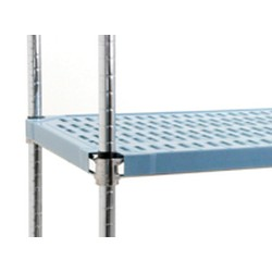 "21"" x 48"" Blue - Solid Quadplus Mat with Valu-Master Gray Epoxy Finish Wire Truss Frame, #SMS-69-QPF-2148V-BS"