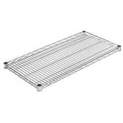 "14"" x 36"" Chrome Reverse Mat Shelf, #SMS-69-RM1436C"