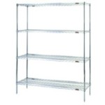 Health Care wire storage shelves for storage of Bins, Canned Goods, Cartons