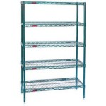 Food Service wire storage racking unit for storage of Bulk Items, Linens, Boxes
