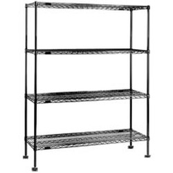"18"" x 48"" Chrome Shelf for Seismic Shelving, #SMS-69-SA1848C"