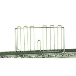 "24"" Stainless Steel Shelf Divider for Wire Shelving, #SMS-69-SD24-S"