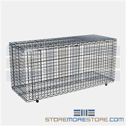 "18"" x 48"" Stainless Steel Security Module with Flip-Up Door, #SMS-69-SECM1848FS"