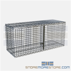 "18"" x 48"" Stainless Steel Security Module with Hinged Doors, #SMS-69-SECM1848S"