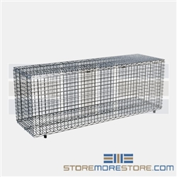 "18"" x 60"" Stainless Steel Security Module with Flip-Up Door, #SMS-69-SECM1860FS"
