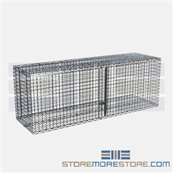 "18"" x 60"" Eaglebrite Zinc Security Module with Hinged Doors, #SMS-69-SECM1860Z"