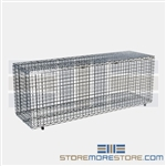 "21"" x 60"" Stainless Steel Security Module with Flip-Up Door, #SMS-69-SECM2160FS"