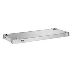 "18"" x 54"" 14 Gauge Stainless Steel Flat Shelf - Quik-Set® Solid Shelving, #SMS-69-SHDS1854SF"