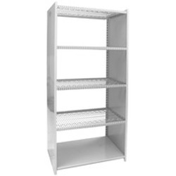 "12"" x 36"" Stainless Steel Optional Stop Assemblies - Hybrid Shelving, for Standard Four-Post Series Only. Comes with One Side-To-Side Partition That Interlocks with Two Front-To-Back Ledges, #SMS-69-SPD1236-S"