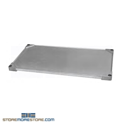 "18"" x 24"" Valu-Master® Gray Epoxy Solid Shelf, #SMS-69-SS1824V"