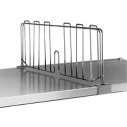 "18"" Stainless Steel Shelf Divider for Solid Shelving, #SMS-69-SSD18-S"