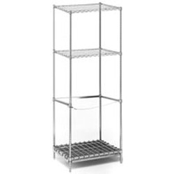"24"" x 30"" x 74"" Style ""B"" Tank Rack, Includes: 1 Dunnage Mat with Frame. (1) 3-Sided Frame. (4) 74"" Posts. 1 Cable Assembly. 2 Standard Shelves. Shipped Knocked-Down., #SMS-69-STR2430B"