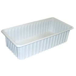 "11"" x 22-1/2"" x 3"" White Tote Box, Fits Ts1421 and Ts2517 Slide System, #SMS-69-TB1022-3"