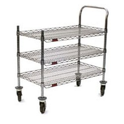 "18"" x 36"" Redipak® 3-Shelf Cart, Includes One Handle, Two Posts, and Four Casters - All In One Carton, #SMS-69-U3-1836C-RP"
