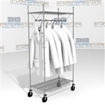Rolling Racks for Hanging Uniforms Garments Clothes Storage Carts Eagle UR1836C