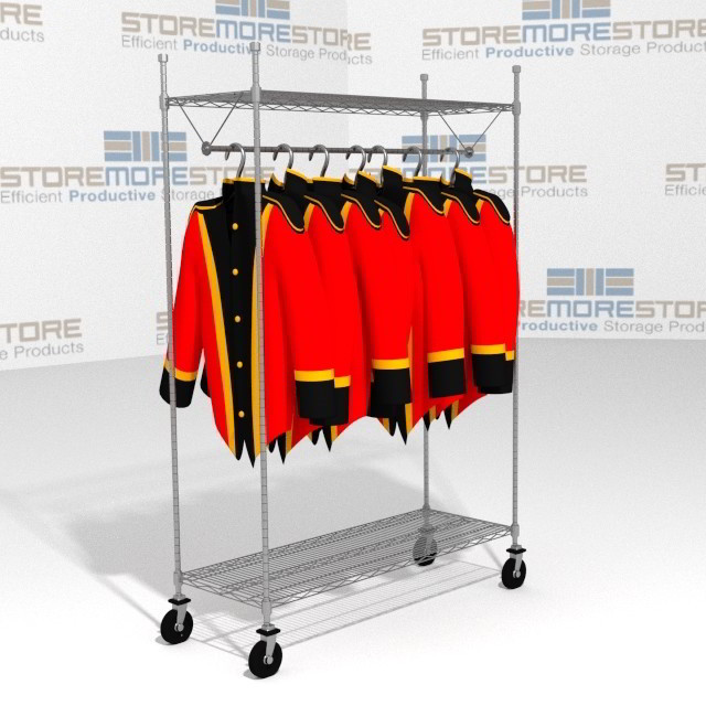 48 Quot Wire Hanging Garment Racks On Wheels Casters Storage