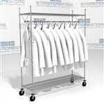 "Rolling Uniform Garment Shelving Carts 60"" Wide Racks with Casters Eagle UR1860C"