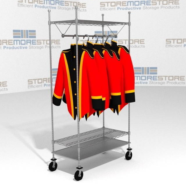 Mobile Racks Hanging Uniforms Garments Coats Wire Shelving Carts SMS ...