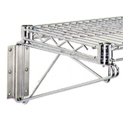 "18"" Wide End Unit, Stainless Steel Finish - Stationary Wire Wall Mounts, #SMS-69-WB18-S"