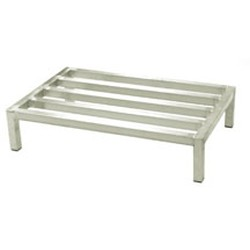 "24"" x 36"" x 12"" Aluminum Dunnage Rack. 2000 Lb. Weight Capacity, 4 Legs, and 5 Lats, #SMS-69-WDR243612-A"