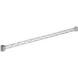 "24"" White, Stand-Outs Decorative Front-To-Back Hanger Rail, #SMS-69-WR24-W"