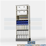 Slider Legal File Shelves for Storing Pocket Folders, Sliding Filing Cabinets