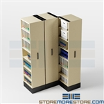 Rolling Pull-out Library Storage System, Organizing Materials & Supplies