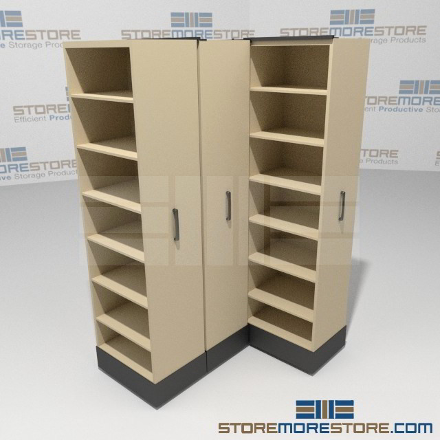 Rolling Pull-out Library Storage System | Organizing Materials ...