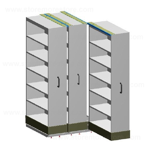 Rolling Pull-out Library Storage System   Organizing Materials ...