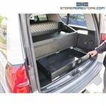 Generic SUV Weapons Storage Cabinet Shotgun Drawer Locker M4 Rifle Pistol Ammo