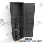 "Six Compartment Long Gun Locker, 16"" Wide x 9-1/2"" Deep x 55"" High, #SMS-72-EDGC6"