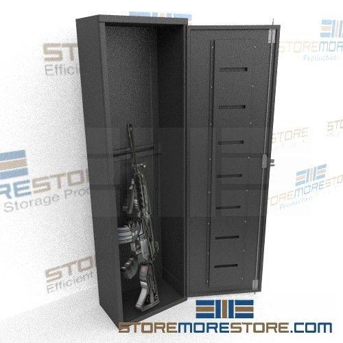Six Compartment Long Gun Locker 16  wide x 9-1/2   sc 1 st  StoreMoreStore & Six Long Gun Cabinet | Law Enforcement Weapon Locker | Long Gun ...