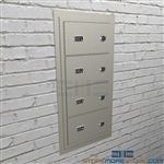 Pistol cabinets for temporary sidearm security locking handguns, sidearms, weapons, and pistols.