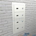 Pistol security cabinets for handguns and sidearms