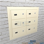 Secured pistol storage on the wall with these wall mounted handgun cabinets