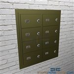 Sallyport wall mounted temporary handgun lockers lock to secure pistols safely.