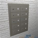 Vertical Pistol wall lockers and sidearm cabinets
