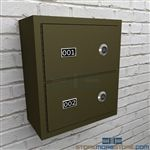 Firearm wall lockers provide small arms and pistol storage for Police Stations and other law enforcement facilities
