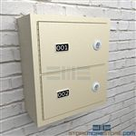 Small arm weapons lockers for Police gun storage protect handguns and sidearms in wall mounted locking cabinets for Law Enforcement facilities.