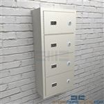 Police sidearm storage lockers secure handgun storage from unauthorized access.
