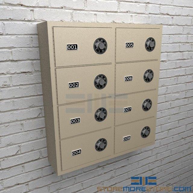 Secured Pistol Storage Compartments Handgun Lockers