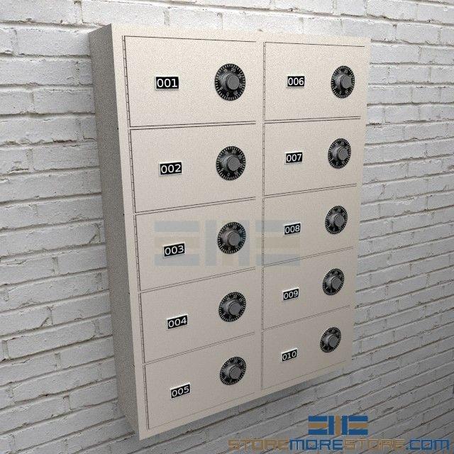Small Arm Wall Cubbies Locking Pistol Storage Cabinets