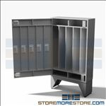 "Five Rifle and Long Gun Locker with Combination Locks, 34"" wide x 12"" deep x 60"" high, #SMS-72-EDSG5C"
